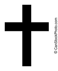 Christian Cross - Black silhouette of Christian cross...