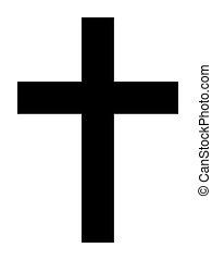 Christian Cross - Black silhouette of Christian cross ...