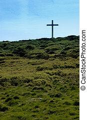 Christian cross - Cross on Otley Chevin, UK