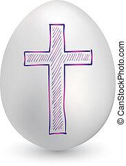 Christian cross easter egg