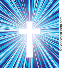 Christian cross icon vector eps 10