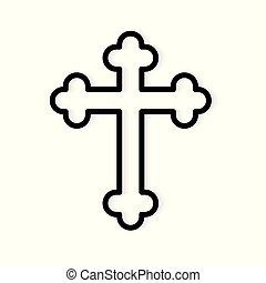 christian cross icon- vector illustration