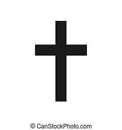 Christian cross icon vector illustration isolated on white.
