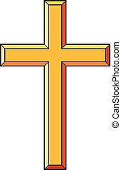 Christian cross icons vector illustration