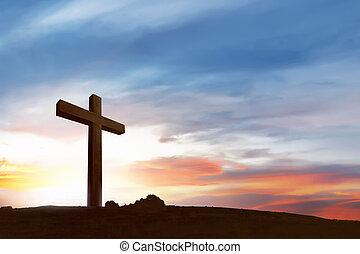 Christian Cross on the field
