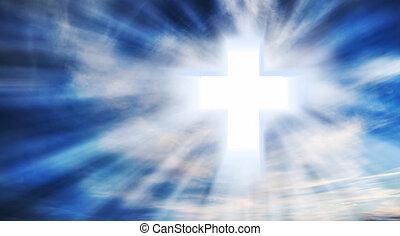 Christian Cross on the Sky
