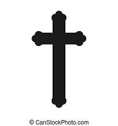 christian cross on white background
