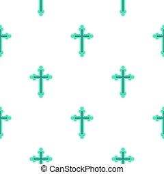Christian cross pattern flat