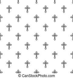 Christian cross pattern, simple style
