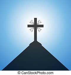 Christian cross. Vector illustration.