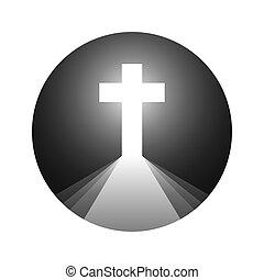 Christian cross. Vector illustration.