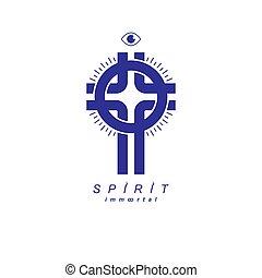 Christian Cross vector symbol, Christianity God religion ...