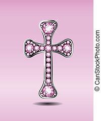 Christian Cross with Rose Quartz - Stunning Christian Cross ...