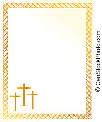 Christian crosses card illustration design