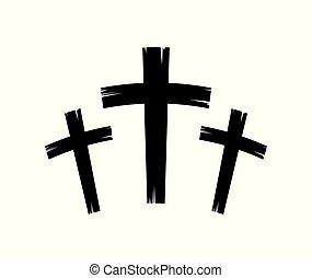 christian crosses icon