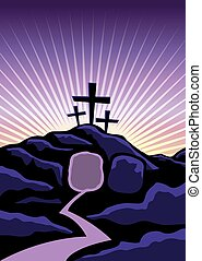 Christian Easter Background Illustration - A Christian...