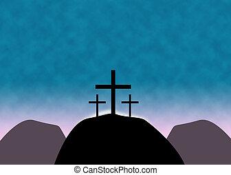Christian Easter Cross Background