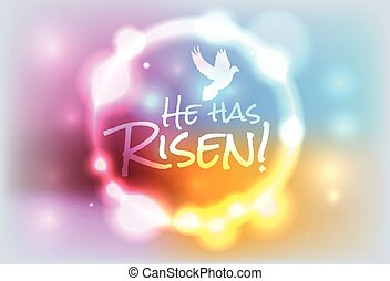Christian Easter Risen Illustration - An illustration for...