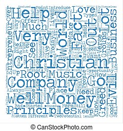 christian entrepreneur Word Cloud Concept Text Background