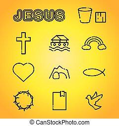 Christian Faith Religion Icons Illustration