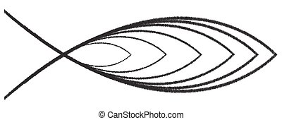 Christian Fish Scribble - A Christian fish design isolated ...