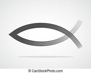Christian fish symbol. Vector illustration