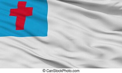 Christian Flag Closeup Seamless Loop - Christian Flag,...