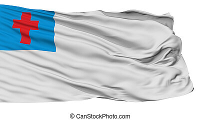Christian Flag, Isolated On White