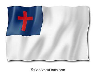 Christian flag isolated on white