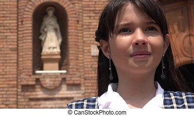 Christian Girl Praying To God