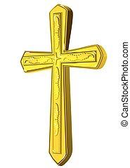 christian gold cross