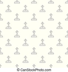 Christian grave pattern vector seamless