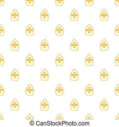 Christian hat pattern, cartoon style