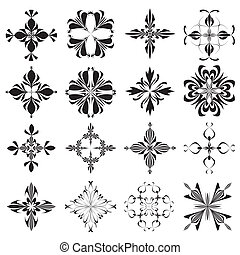 Christian Holy Crosses - Set of religious symbols derived...