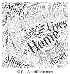 Christian Home Based Business Word Cloud Concept