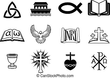 Christian icons - A set of icons pertaining to Christianity...