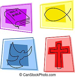 Christian icons - selection of christian icons and symbols