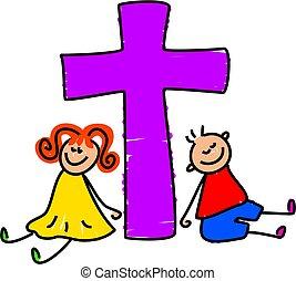 Christian kids - kids from a Christian family - toddler art...