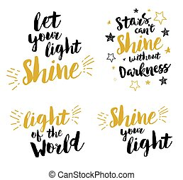 Christian lettering set - Let your light shine, light of the...