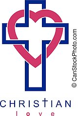 Christian Love and True Belief in God vector creative symbol...