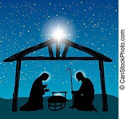 Christian nativity scene