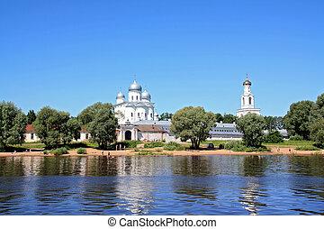 christian orthodox church on coast river