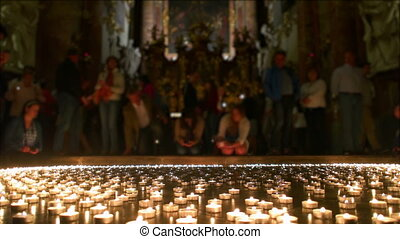 Christian People Taking all Lighted Lights