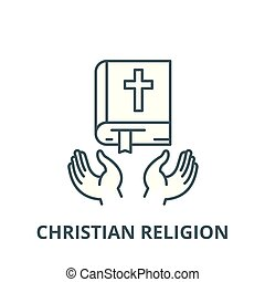 Christian religion vector line icon, linear concept, outline sign, symbol
