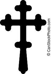 Christian religious cross symbol