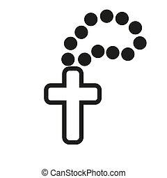 christian rosary logo