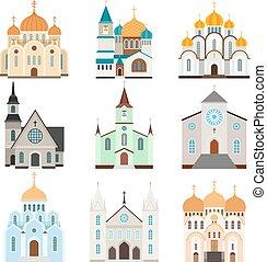 Christian sanctuary building icons - Sanctuary building...