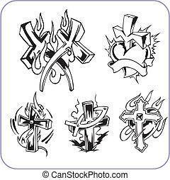 Christian symbols - vector illustration. - Christian ...