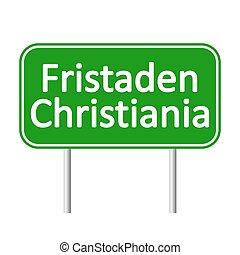 christiania, poznaczcie., fristaden, droga