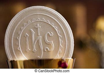 christianisme, symbole, communion, fond, religion